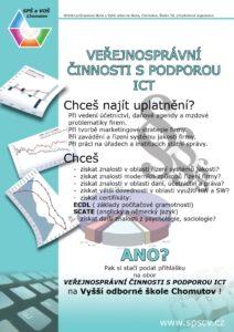 Obor Veřejnosprávní činnosti s podporou ICT (VOŠ) - plakát