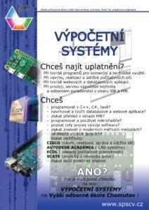 Obor Výpočetní systémy (VOŠ) - plakát